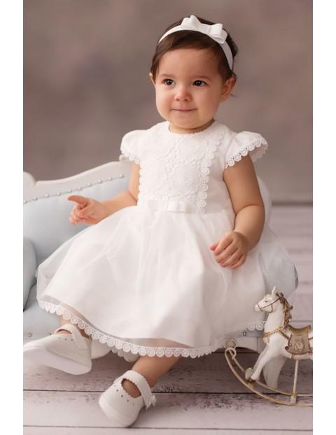 Sukienka niemowlęca biała na Chrzest