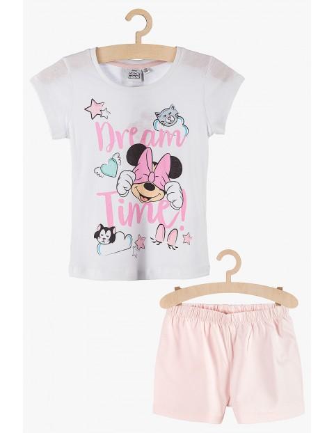 Pidżama dziewczęca Myszka Minnie biało-różowa