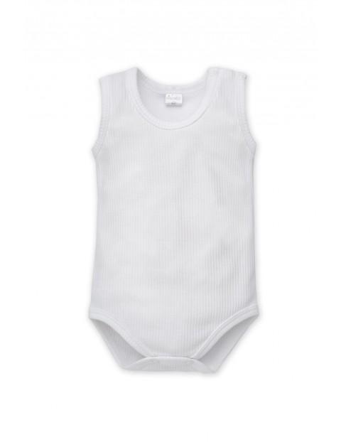 Body niemowlęce na ramiączka białe- bawełniane