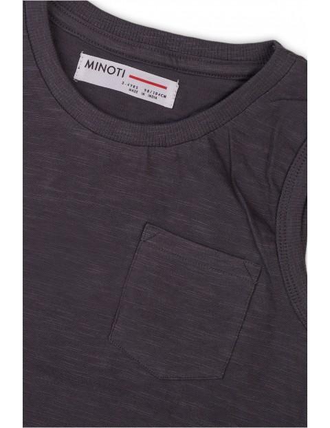 Bawełniana koszulka chłopięca czarna