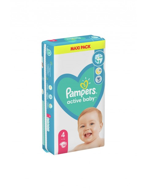 Pampers Active Baby, rozmiar4, 58szt, 9-14kg