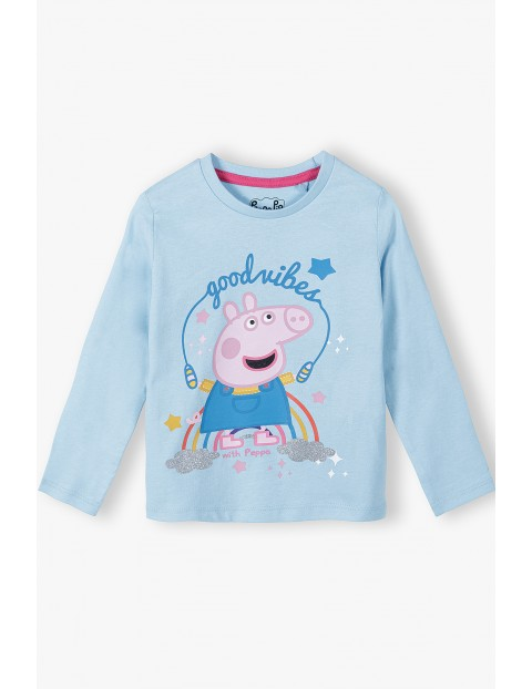 Bluzka dziewczęca bawełniana niebieska Peppa