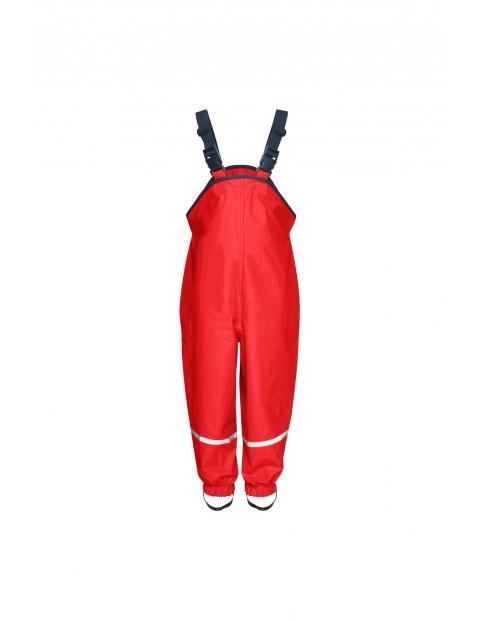 Spodnie przeciwdeszczowe Playshoes-czerwone