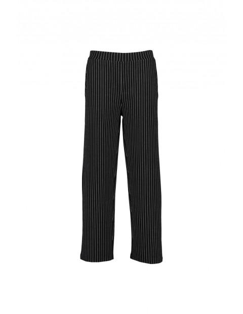 Spodnie dziewczęce czarne w paski