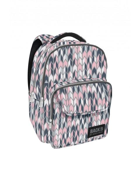 Plecak szkolny BACKUP w pastelowe zygzaki