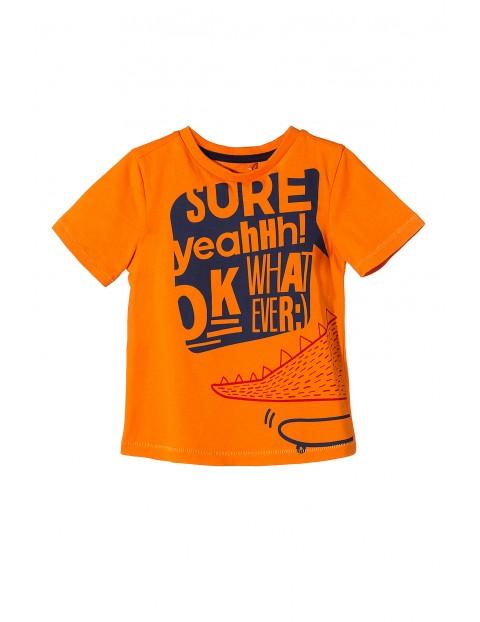 Pomarańczowy t-shirt dla chłopca