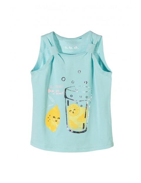 Bluzka na ramiączka dla dziewczynki-lemoniada
