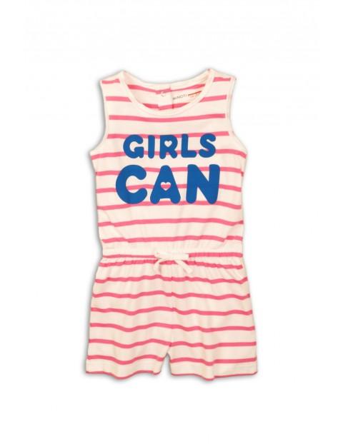 Kombinezon dziewczęcy na lato - GIRLS CAN