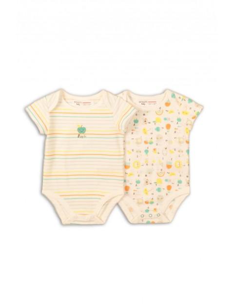 Body niemowlęce z krótkim rękawem- kolorowe wzorki