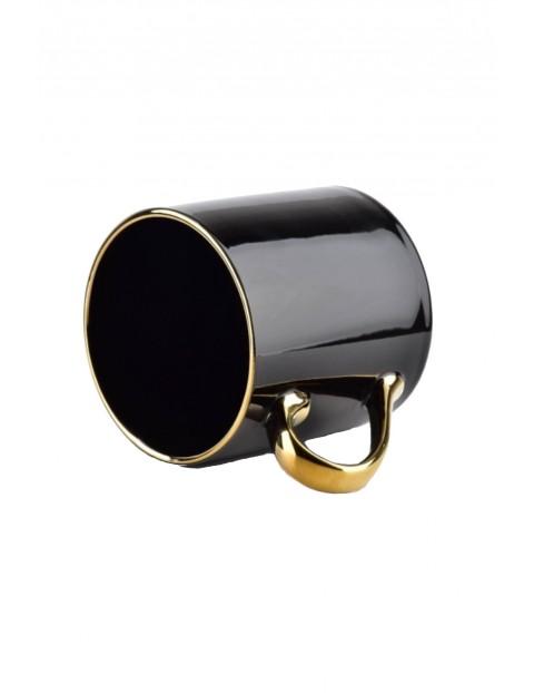 Czarny kubek że złotym uchem ROYAL - 400 ml