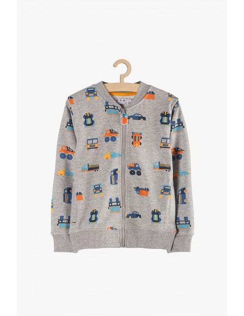 Bluza chłopięca dresowa- szara w samochody