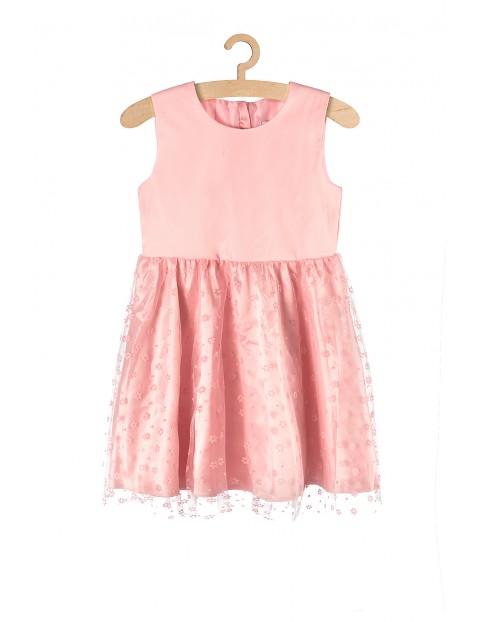 Różowa sukienka na specjalne okazje dla dziewczynki