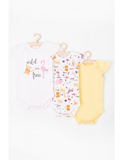 Kolorowe body niemowlęce 3pak 100% Bawełna
