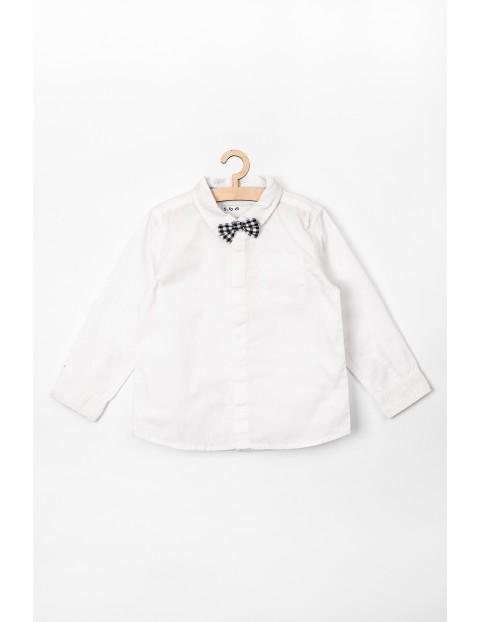 Elegancka koszula dla niemowlaka biała z muszką