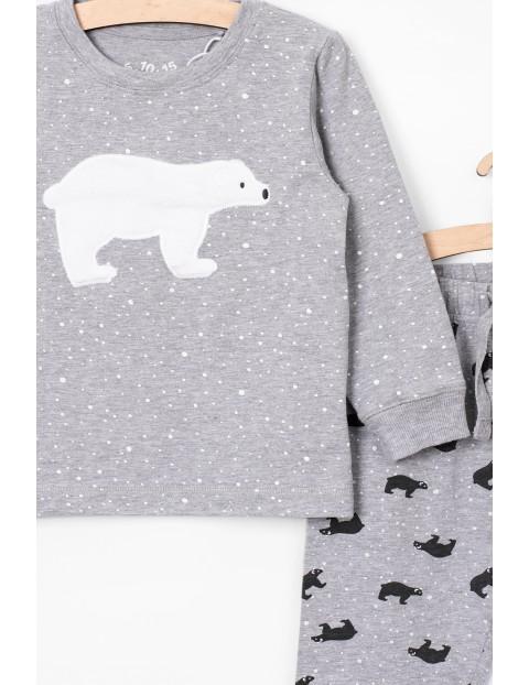 Szara piżama z misiem polarnym