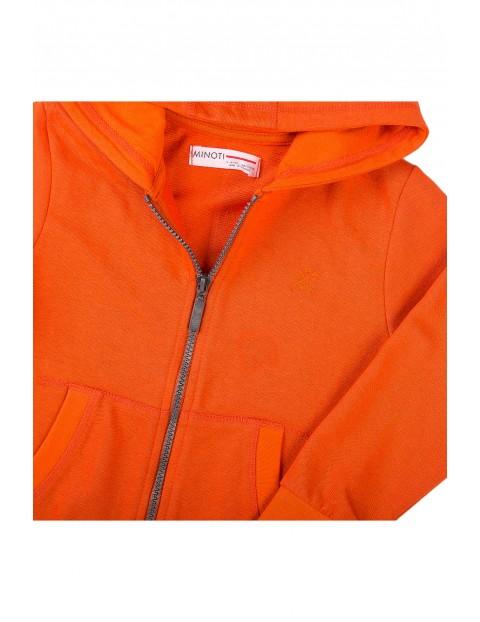 Bluza dresowa chłopięca z kapturem pomarańczowa