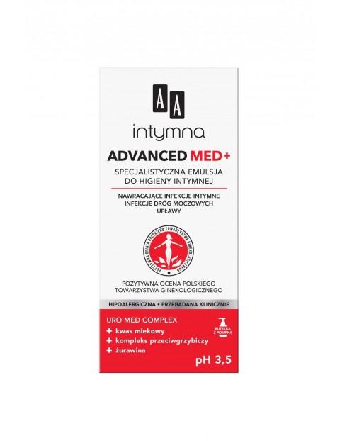 AA Intymna Advanced Med+ specjalistyczna emulsja do higieny intymnej Advanced pH 3,5 300 ml
