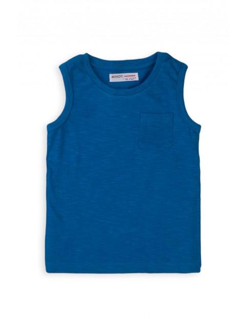 Bawełniana koszulka chłopięca niebieska