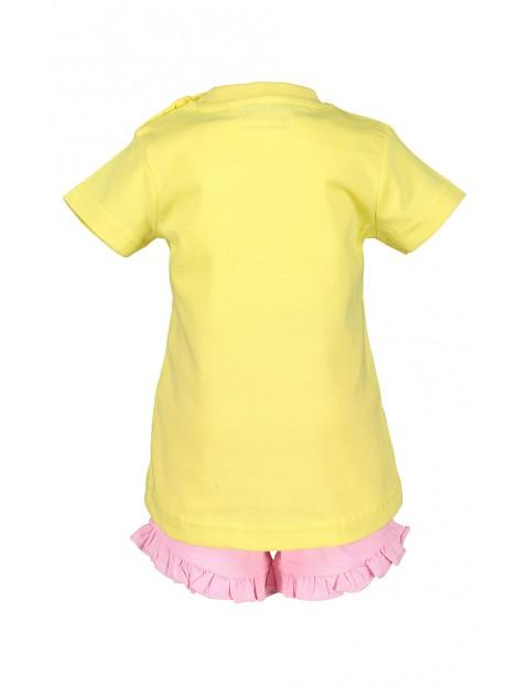 Komplet dziewczęcy koszulka i spodenki