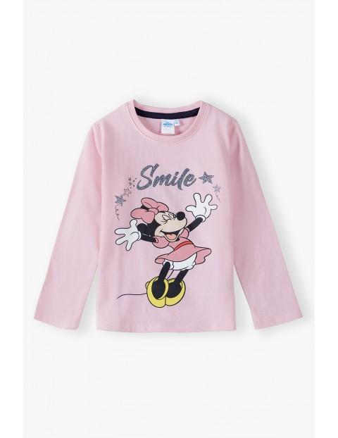 Bluzka dziewczęca bawełniana Minnie - różowa