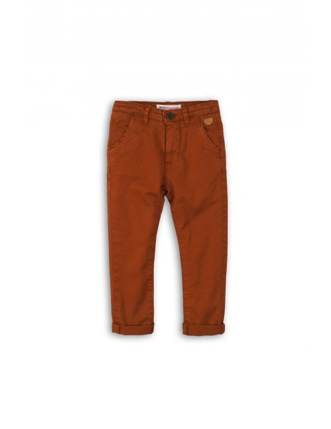 Spodnie chinosy- brązowe