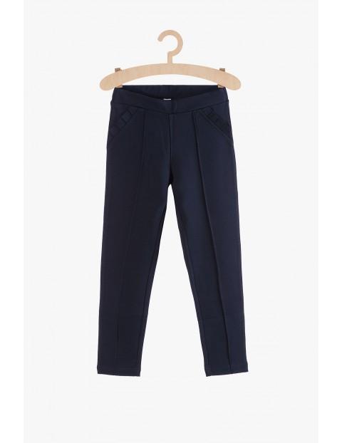 Granatowe spodnie dla dziewczynki
