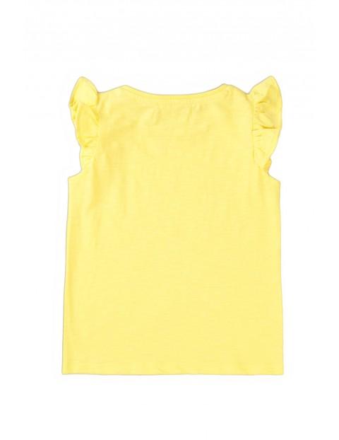 Bawełniana bluzka niemowlęca żółta