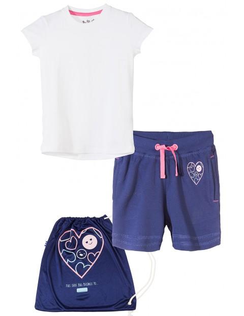Komplet sportowy t-shirt+spodenki 3P3503