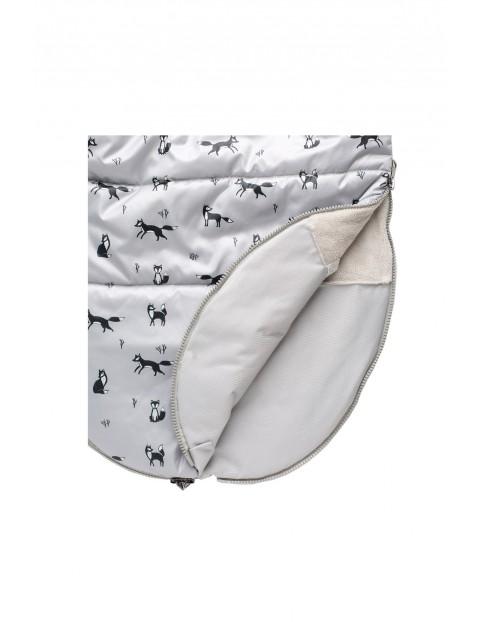 Śpiworek niemowlęcy - szary