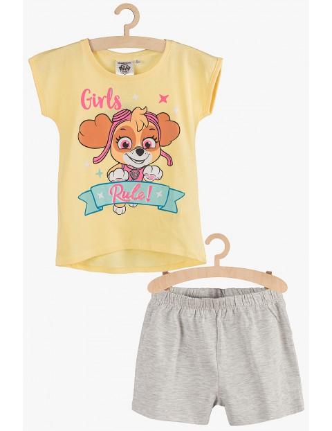 Pidżama dziewczęca Psi Patrol żółto-szara