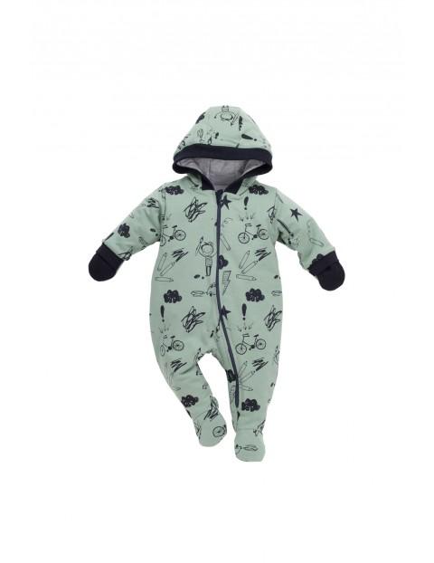 Kombinezon niemowlecy bawełniany 5R35AW