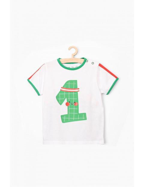 T-shirt niemowlęcy biały- Numer 1