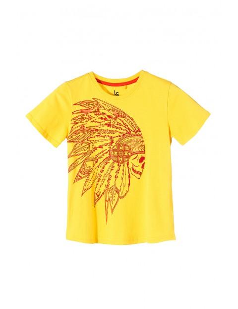 Koszulka chłopięca bawełniana- zółta