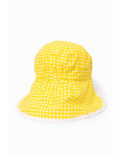 Czapka z daszkiem dziewczęca  - żółta