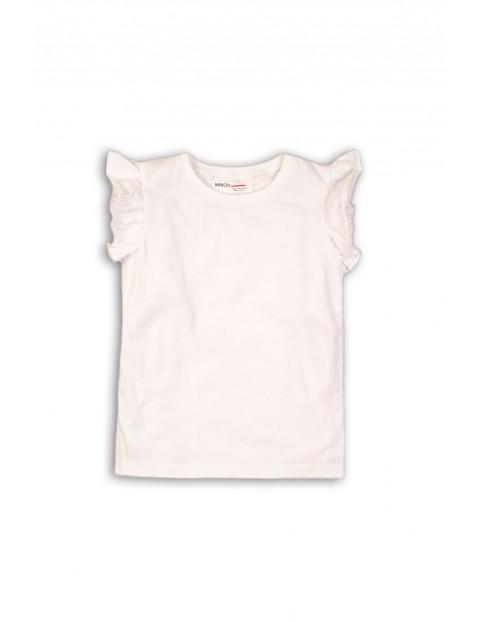 T-shirt niemowlęcy biały z falbanką