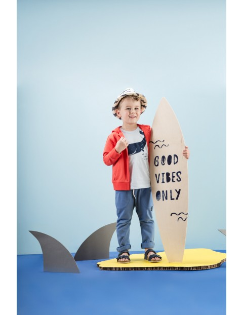 Koszulka chłopięca niebieska z wielorybem