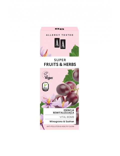 AA Super Fruits&Herbs esencja rewitalizująca vital bomb 30 ml