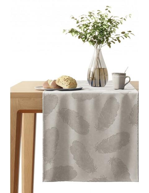 Bieżnik na stół Velvet beżowy 40x140 cm