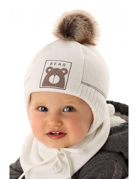 Czapka niemowlęca wiązana 5X35A2