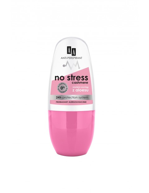 AA Deo antiperspirant w kulce No Stress Cashmere 24h 50 ml