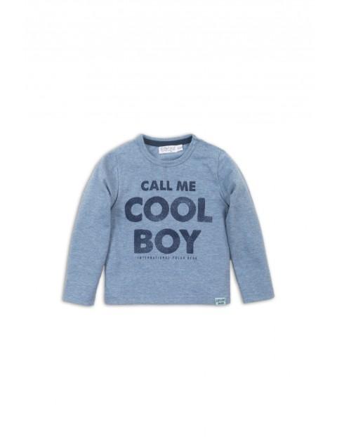 Bluzka z długim rękawem-niebieska- Call me cool boy