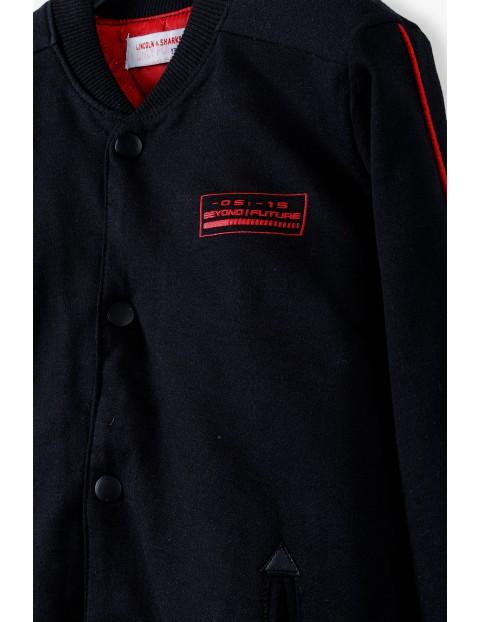 Bluza chłopięca typu bomber z lekkim ociepleniem - czarna