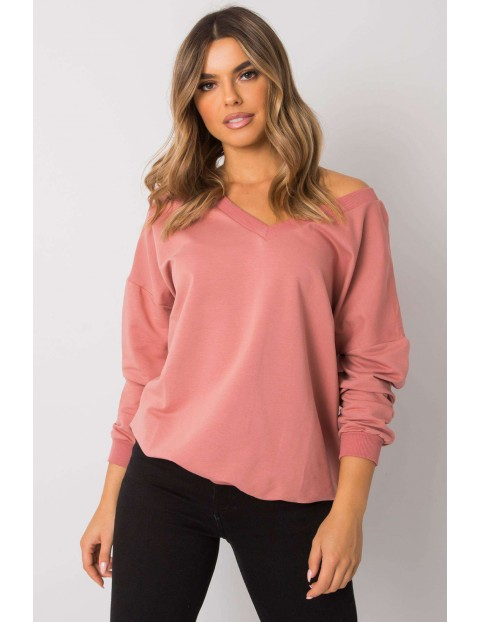 Różowa bluza bawełniana damska