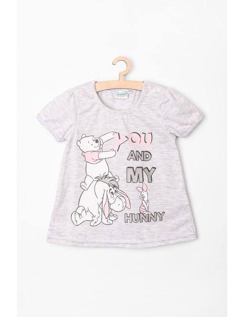 T-shirt niemowlęcy Kubuś Puchatek szary