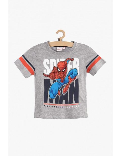 T-Shirt chłopięcy Spiderman szary rozm 140