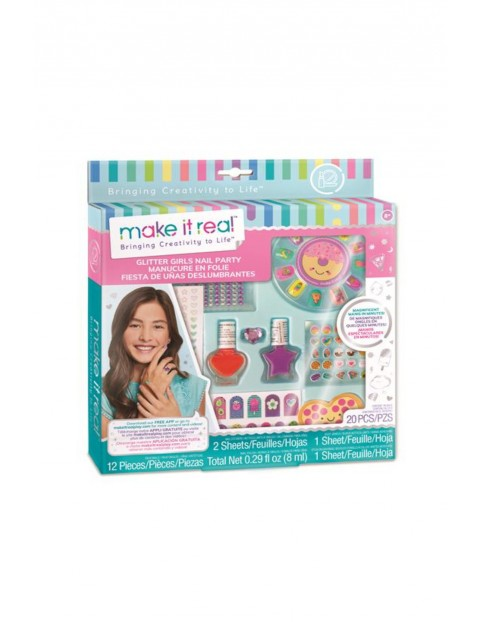 Make it real - Zestaw do manicure Glitter Girl Party wiek 8+