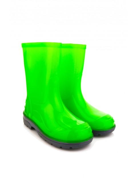 Kalosze zielone fluo