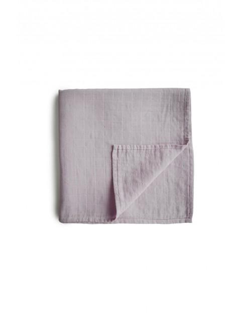 Mushie - otulacz kocyk letni 100% organic cotton Soft Mauve - różowy