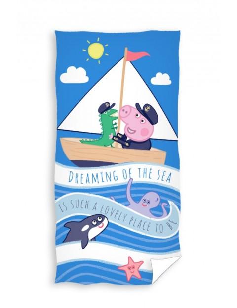 Ręcznik kąpielowy bawełniany Świnka Peppa 70x140cm