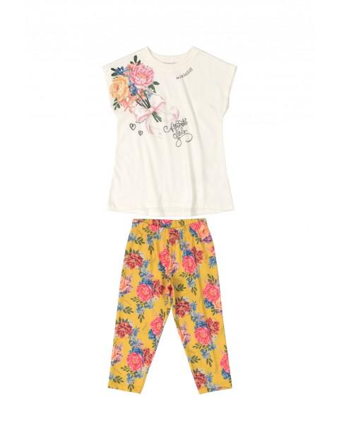 Komplet bluzka+ spodenki w kwiatki